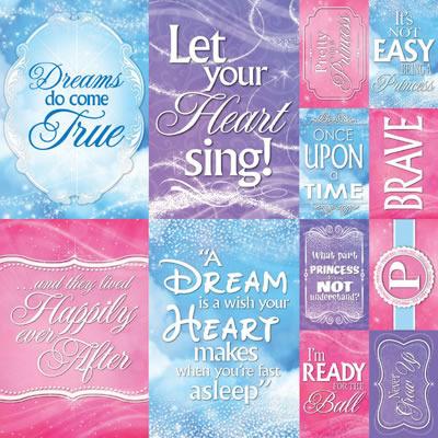 Magical Die Cut 12 x 12 Sticker Sheet - Reminisce