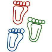 Feet Shaped Multi Color Paper Clips