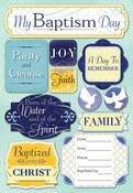 My Baptism Day Cardstock Stickers