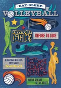 Eat. Sleep. Volleyball Cardstock Stickers