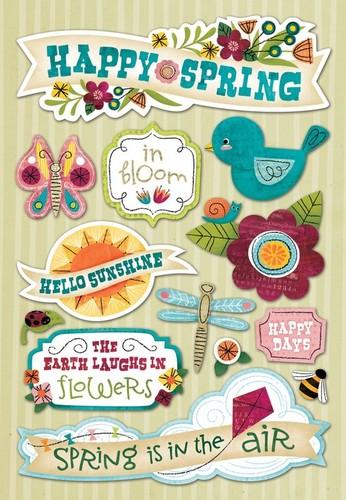 Happy Spring Cardstock Stickers