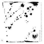 Confetti 6 x 6 Template  - Crafters Workshop