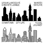 Mini Urban Landscape 6 x 6 Template - Crafters Workshop