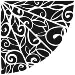 Flower Quarter 6 x 6 Template  - Crafters Workshop