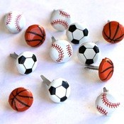 Mini Sports Ball Eyelet Outlet Brads
