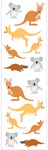 Playful Kangaroo Pals Stickers, Mrs. Grossmans