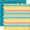 Chevron Stripe Paper - All About A Boy - Echo Park