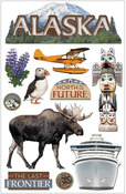 Alaska 3D Stickers - Paperhouse