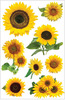Sunflowers 3D Stickers - Paperhouse