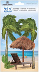 Tropical Beach 3D Stickers - Paperhouse
