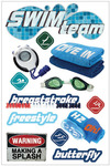 Swim Team 3D Stickers - Paper House
