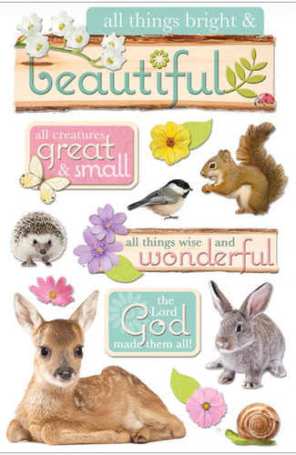 All Things Beautiful 3D Stickers