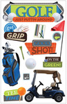 Golf 3D Stickers - Paper House