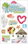 Beach Wedding 3D Stickers - Paper House