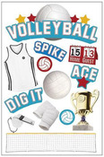 Volleyball Stickers - Paper House