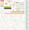 Love & Marriage Sticker Sheet Alpha & Bits - Bella Blvd