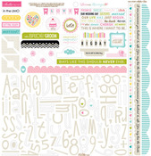 Love & Marriage Sticker Sheet Alpha & Bits - Bella Blvd