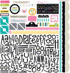 Engaged At Last Sticker Sheet Alpha & Bits - Bella Blvd