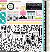Engaged At Last Sticker Sheet Alpha & Bits - Bella Blvd