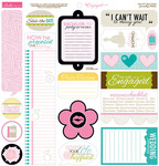 Engaged At Last Sticker Sheet Just Write - Bella Blvd
