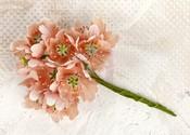 Peach Lyric Fabric Flower Stem - Prima