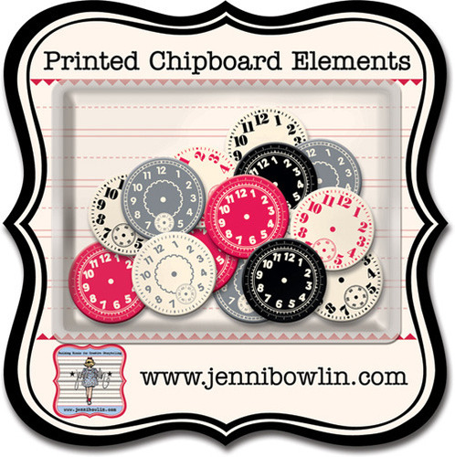 Watch Faces Chipboard Pieces - Jenni Bowlin
