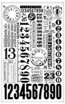 Numbers Remnant Rub-ons - Tim Holtz