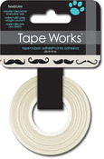 Black Mustaches On White    Washi Tape - Tape Works