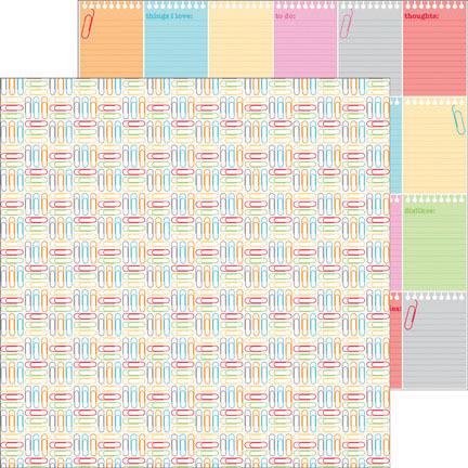 Color Clips Paper - Take Note - Doodlebug