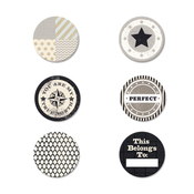 Etcetera Metal Flair Stickers - Fancy Pants