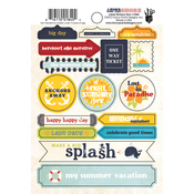 Down By The Shore Label Stickers - Fancy Pants