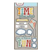 Time Flies Laser Die-cut Stickers - ADORNit