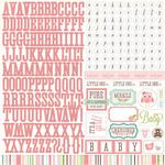 Bundle Of Joy Girl Alpha Sticker Sheet - Echo Park