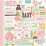 Bundle Of Joy Girl Element Sticker Sheet - Echo Park