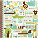 Bundle Of Joy Boy Element Sticker Sheet - Echo Park