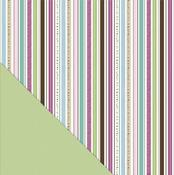 Twinkling Stripe Paper - Fern & Forest Girl - Little Yellow Bicycle