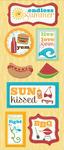 Endless Summer Chipboard Stickers - Imaginisce