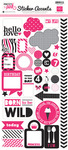 Pretty In Pink Sticker Accents Sheet - Echo Park