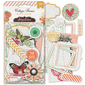 Cottage Farms Paper Goods Die Cut Embellishments - Pink Paislee