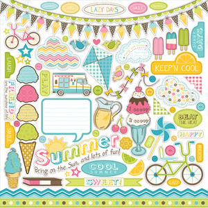 Cool Summer Element Stickers - Carta Bella