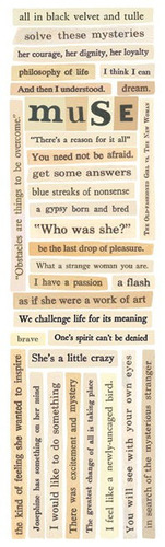 Muse Words Cardstock Stickers - Splash Of Color