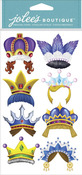 Fun Crowns Dimensional Stickers - Jolees
