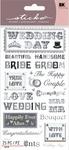 Black Tie Wedding Phrases Sticko Stickers - EK Success