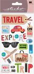 Happy Traveling Sticko Stickers - EK Success