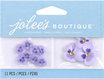 Mini Purple Pansies  Boutique