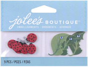Mini Lady Bugs & Leaves  Boutique