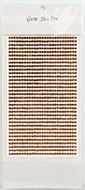 Copper  Gem Stickers, 3 mm