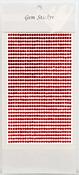 Ruby  Gem Stickers, 3 mm
