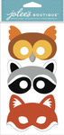 Furry Masks Dimensional Stickers - Jolees