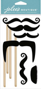 Moustaches On Sticks Dimensional Stickers - Jolees